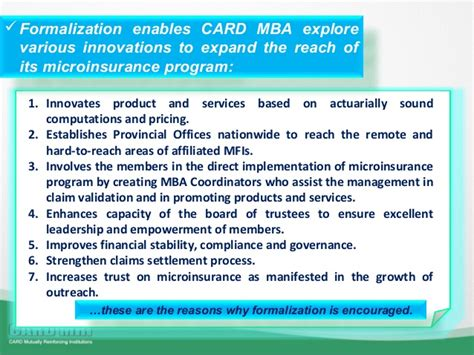 Mba In Insurance Sector by Evolution Of Card Mba And Its Impact To Microinsurance
