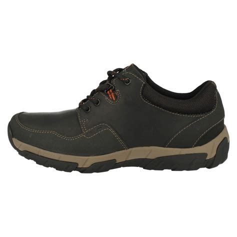 mens clarks casual waterproof lace up shoes walbeck edge