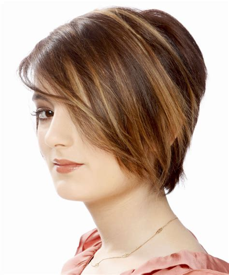 casual bob hairstyles short straight casual bob hairstyle with side swept bangs
