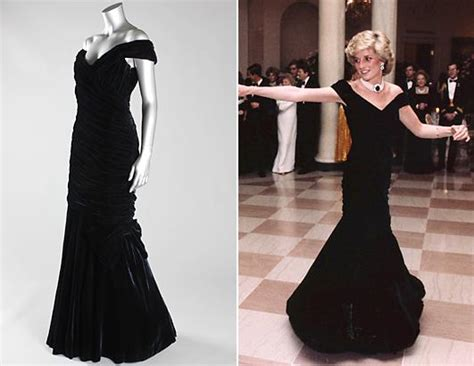 Longdress Diana Back iconic princess diana dresses to be auctioned picture