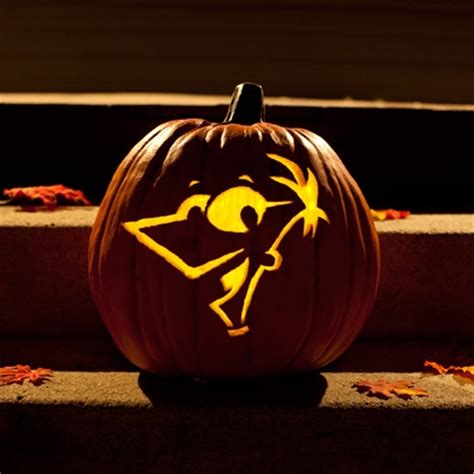 phineas pumpkin carving template disney family