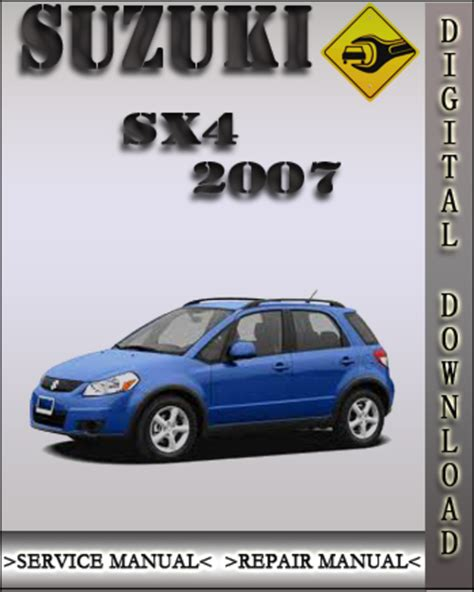 car repair manuals online pdf 2007 suzuki sx4 head up display 2007 suzuki sx4 factory service repair manual download manuals a