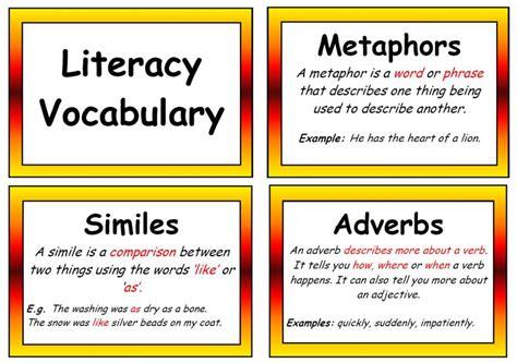 new year ks2 literacy literacy vocabulary display posters