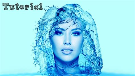 tutorial photoshop photo effect indonesia photoshop tutorial portrait water effect english youtube