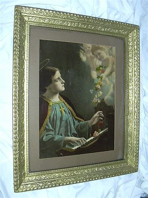 st cecelia  print piano angels framed catholic art