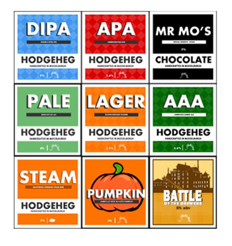 home brew labels template an update your own bottle labels for your home
