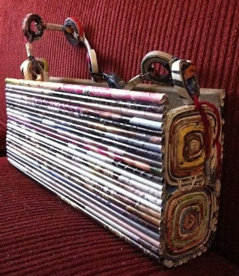 Another Etsy Find The Satin Rolled Clutch by 104 Best Con Material Reciclado Carteras Canastos Objetos