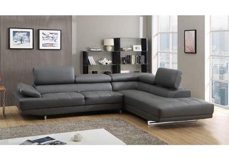 stylist modern grey leather corner sofa right
