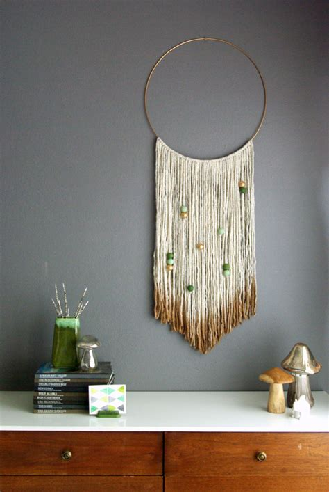 Home Decor Hiasan Dinding Pompom Crochet Wall Hanging Tosca Biru the 10 easiest diy wall hangings hither thither