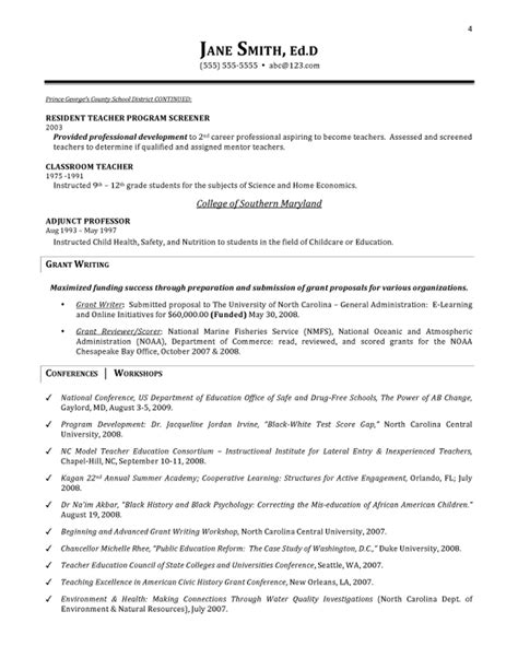 Elementary Education Resume by Elementary Education Resume Exles Krida Info