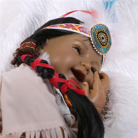 Handmade Indian Dolls - handmade american indian black reborn dolls