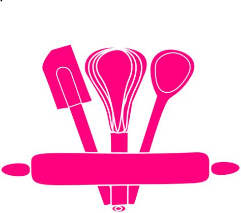Kitchen Utensils Clipart pink kitchen utensils clip at clker vector clip royalty free domain