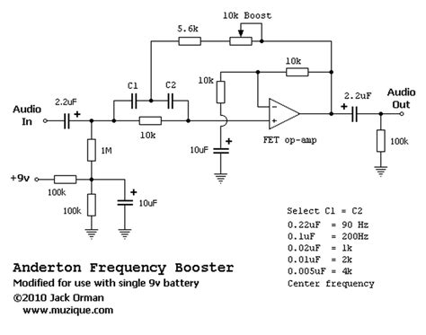 Efek Bass Wler The Low Overdrive Distortion anderton frequency booster circuitos electronicos