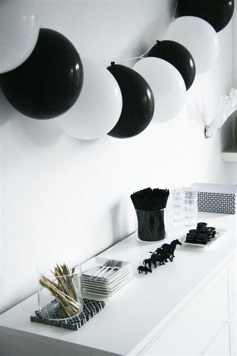 decorations for black and white themed new year theme ideas for house bookeventz