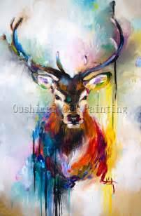 x series 100 handmade colorful animal deer portrait