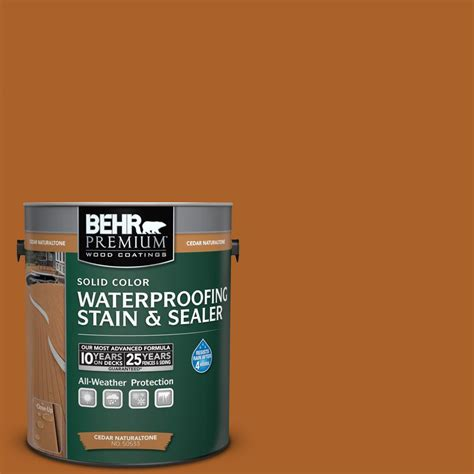 behr solid color waterproofing wood stain behr premium 1 gal sc 533 cedar naturaltone solid color