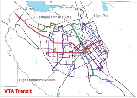 vta light rail map the network effect spur