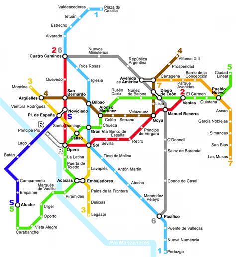 madrid metro map file madrid metro map 1977 png
