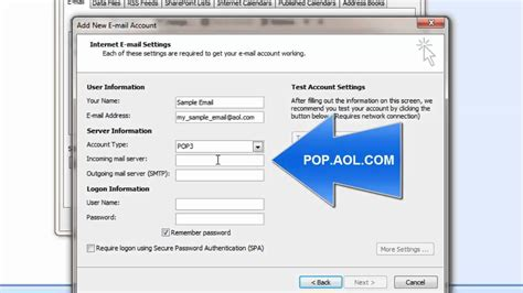 Aol Addresses Lookup Aol Pop3 Email Setup On Outlook 2007 How To
