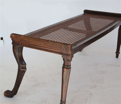 regency bench regency carved mahogany bench at 1stdibs
