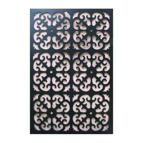 decor home depot acurio latticeworks 1 4 in x 32 in x 4 ft black roman