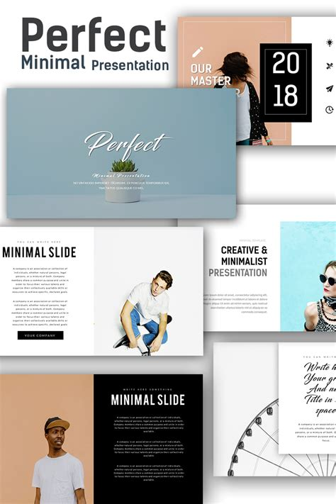 Perfect Minimal Presentation Powerpoint Template 67868 Templates For Powerpoint Slides