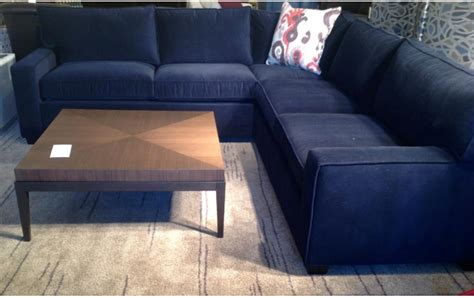 Navy Blue Sectional by Redirecting