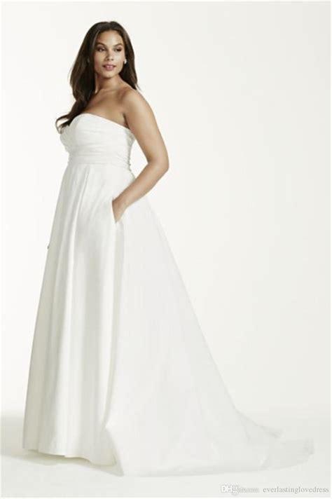 Neck Strapless Kb 005 chiffon empire waist plus size wedding dress david s bridal wedding dress inspiration