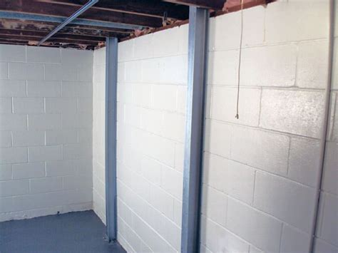 basement wall support i beams foundation wall repair in arbor warren traverse city saginaw i beam system for basement