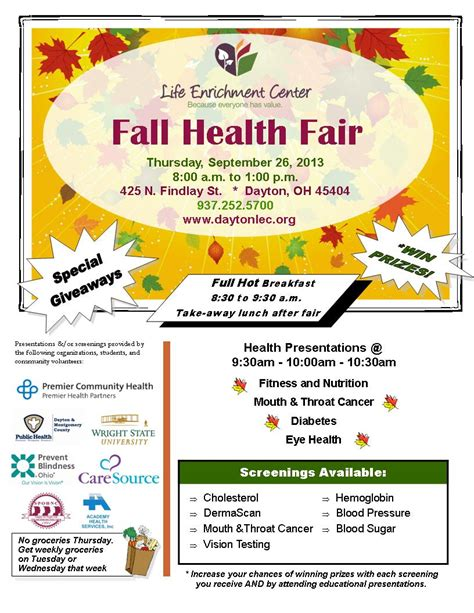 fair flyer template health fair flyer template for