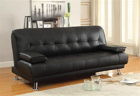 Futon Leather Sofa Bed Sofa Beds And Futons Faux Leather Convertible Sofa Bed With Removable Armrests Quality