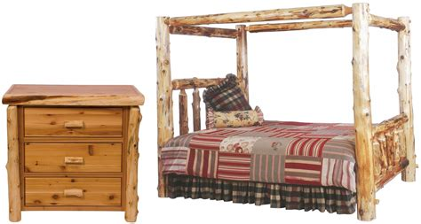 log bedroom set traditional cedar youth canopy log bedroom set from