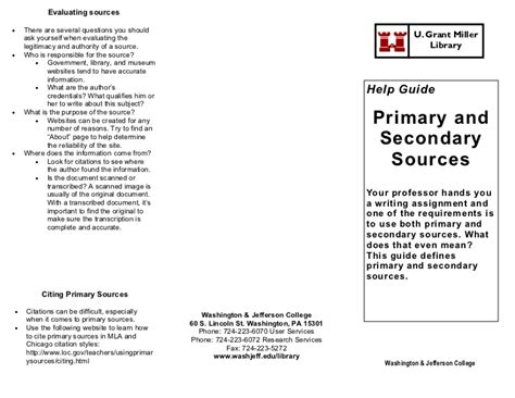 How Should I Cite Sources For Mba Classes by Primary Secondary Sources Help Guide