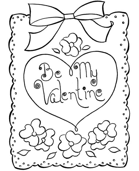 coloring pages for valentines cards bluebonkers free printable valentine s day coloring page
