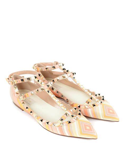 flat valentino shoes patterned rockstud flats by valentino garavani flat