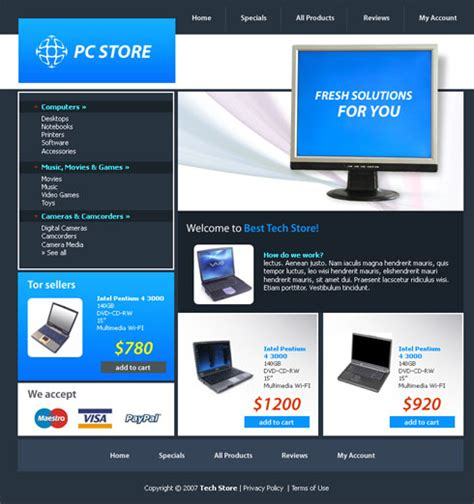 templates for technology website computer buzz website template 3088 computers