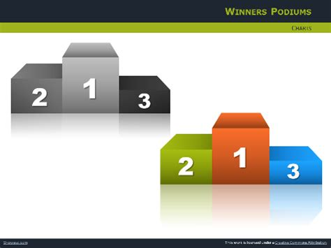 free ppt templates for winners podiums avec silhouettes pour powerpoint et impress