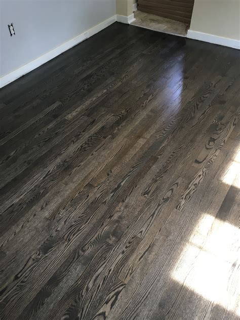 Bona graphite stain on both red and white oak   Forest