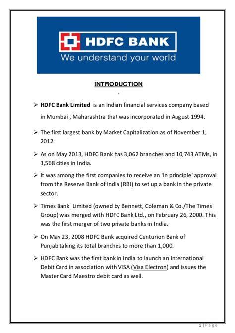 Mba Finance Internship In Hdfc Bank by Hdfc Bank Prestation Vikas Pawar 9594195676