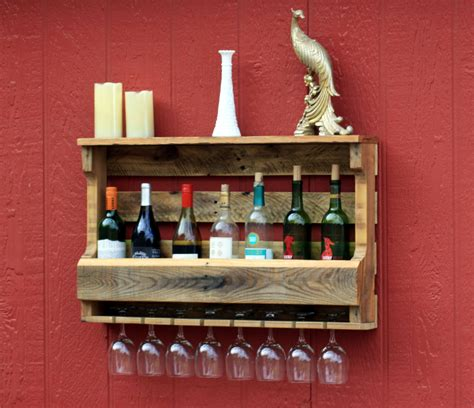 Make A Wine Rack Out Of A Pallet by Oak Pallet Wine Rack