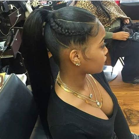 bump updo hairstyles for black women fly ponytail because sometimes simplicity speaks volumes