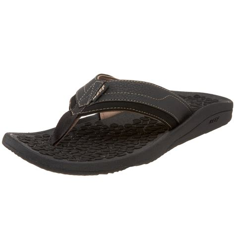 black reef sandals reef mens playa negra sandal in black for lyst