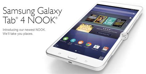 Samsung Tab 4 Nook samsung partners with barnes noble for the new galaxy