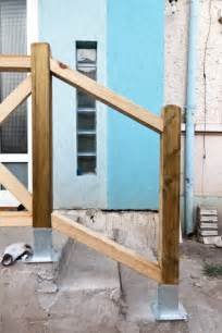 Building A Banister How To Build Deck Stair Railings Howtospecialist How