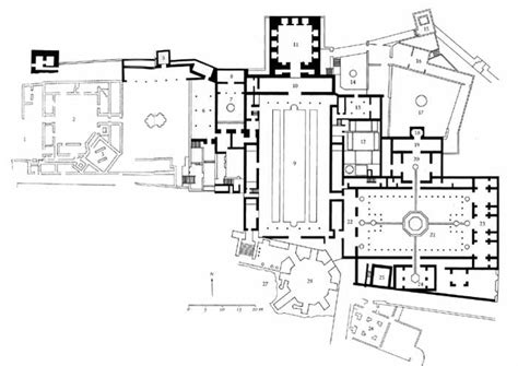 Large House Floor Plan by Spain Granada The Alhambra Palace Complex Plan