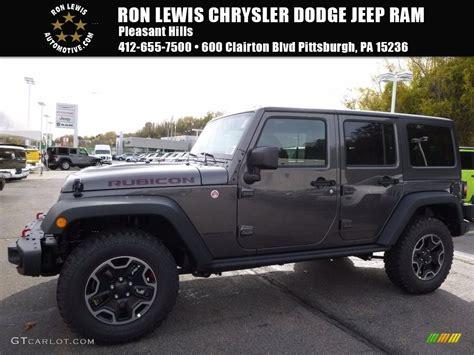 jeep rubicon 2017 grey 2017 granite metallic jeep wrangler unlimited