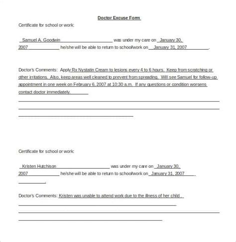 Doctors Notes Template by 28 Doctors Note Templates Pdf Doc Free Premium