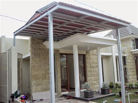 contoh desain atap rumah baja ringan harga kanopi murah kanopi baja ringan murah
