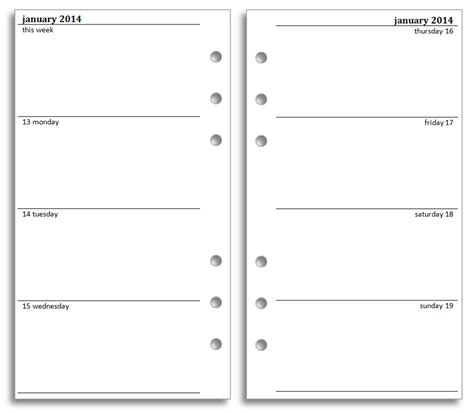 diary calendar template philofaxy free filofax diary inserts to print on letter
