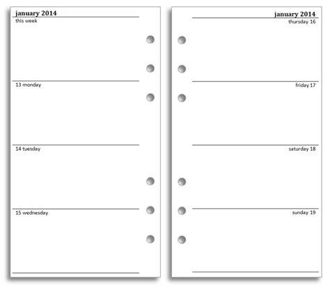 inserts template philofaxy diary inserts
